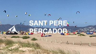 Lugares para navegar en Sant Pere Pescador, información de escuelas, vientos